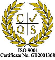 ISO 9001 cert no. GB2001368
