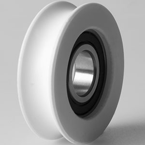 Image showing long lasting, low wear, low friction pulley or guide wheel