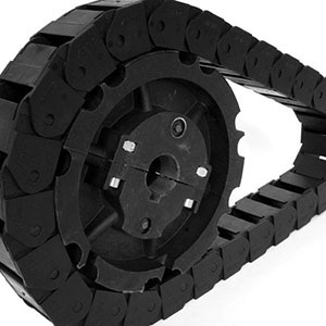 Image showing plastic gear, sprocket and plastic chain, replaceing metal